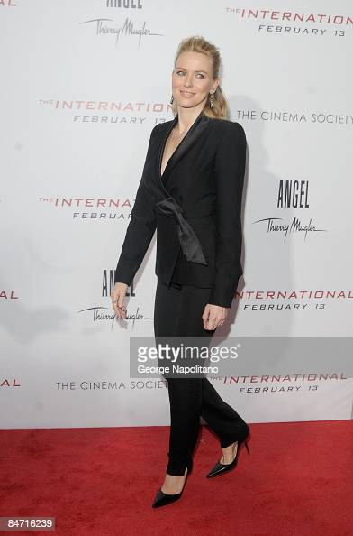 Actress Naomi Watts attends the Cinema Society and Angel by Thierry Mugler screening of 'The International' at AMC Lincoln Square on February 9 2009...