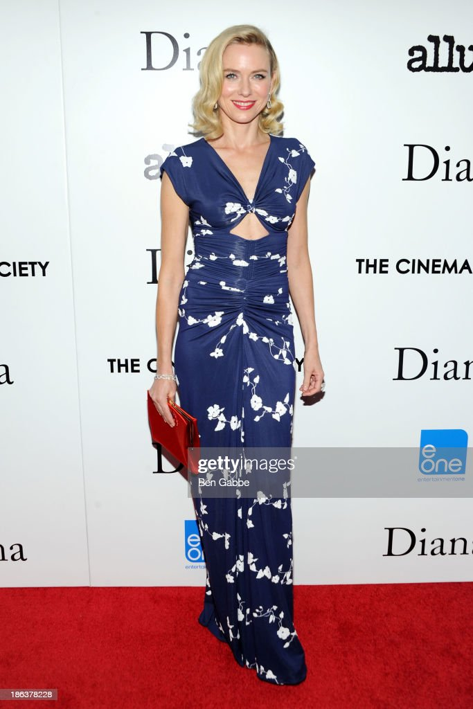 Actress <a gi-track='captionPersonalityLinkClicked' href=/galleries/search?phrase=Naomi+Watts&family=editorial&specificpeople=171723 ng-click='$event.stopPropagation()'>Naomi Watts</a> attends The Cinema Society with Linda Wells & Allure Magazine premiere of Entertainment One's 'Diana' at SVA Theater on October 30, 2013 in New York City.