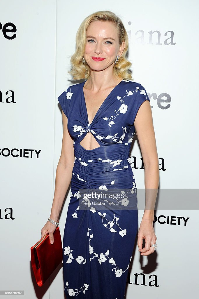 Actress Naomi Watts attends The Cinema Society with Linda Wells & Allure Magazine premiere of Entertainment One's 'Diana' at SVA Theater on October 30, 2013 in New York City.
