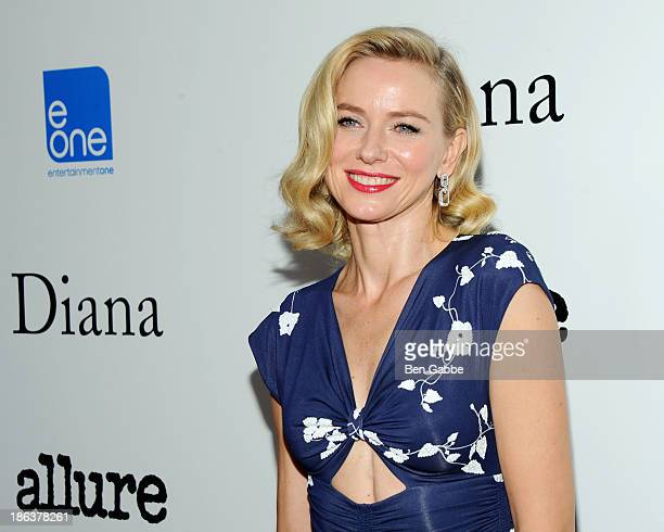 Actress Naomi Watts attends The Cinema Society with Linda Wells Allure Magazine premiere of Entertainment One's 'Diana' at SVA Theater on October 30...