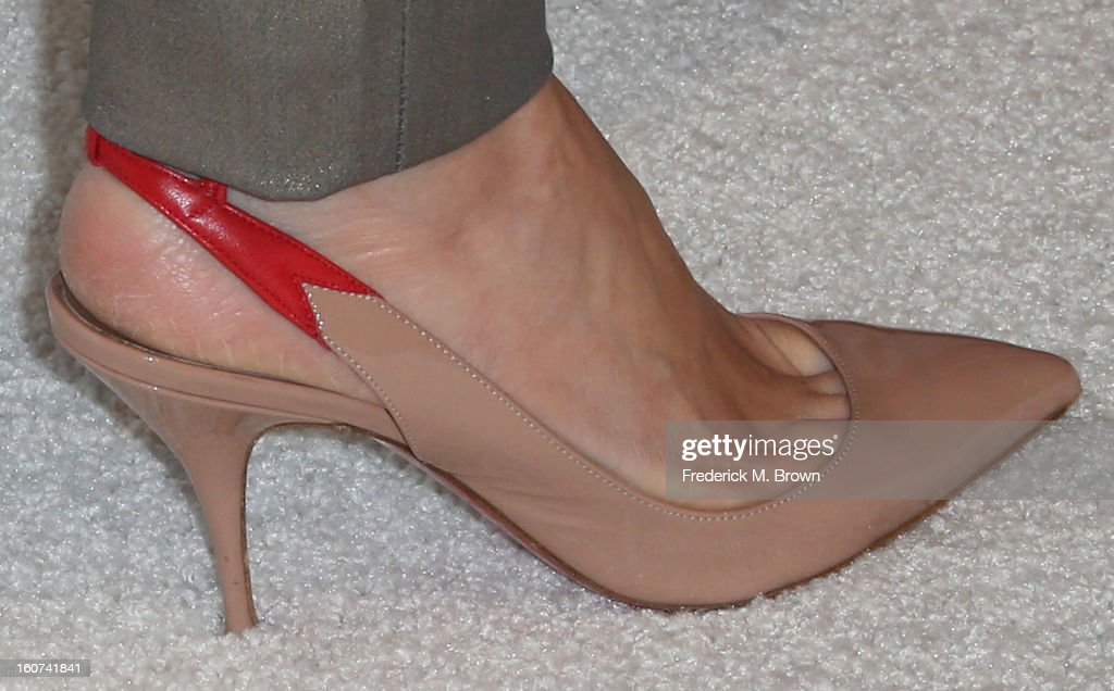 Actress Naomi Watts (shoe detail) attends The Hollywood Reporter Nominees' Night 2013 Celebrating The 85th Annual Academy Award Nominees at Spago on February 4, 2013 in Beverly Hills, California.