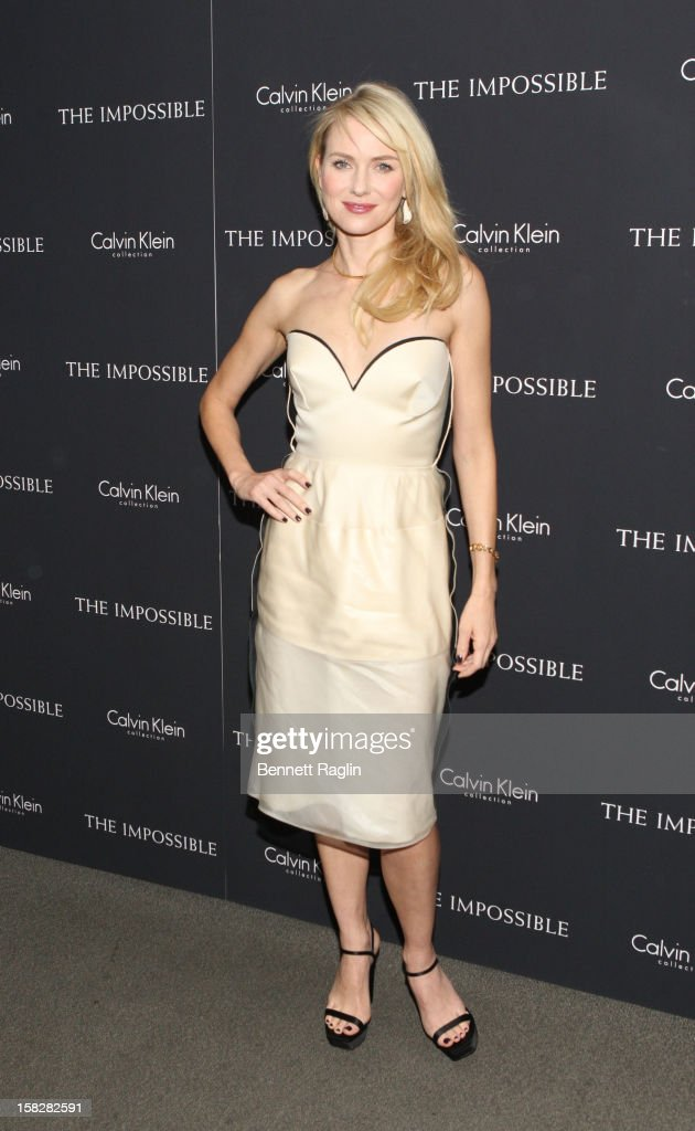 Actress <a gi-track='captionPersonalityLinkClicked' href=/galleries/search?phrase=Naomi+Watts&family=editorial&specificpeople=171723 ng-click='$event.stopPropagation()'>Naomi Watts</a> attends 'The Impossible' New York Special Screening at Museum of Art and Design on December 12, 2012 in New York City.