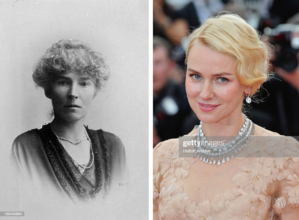 In this composite image a comparison has been made between Gertrude Bell (L) and actress Naomi Watts. Naomi Watts will reportedly play Gertrude Bell in a film biopic 'Queen of the Desert' directed by Werner Herzog. CANNES, FRANCE - MAY 18: Actress Naomi Watts attends the 'Madagascar 3: Europe's Most Wanted' Premiere during the 65th Annual Cannes Film Festival at Palais des Festivals on May 18, 2012 in Cannes, France.