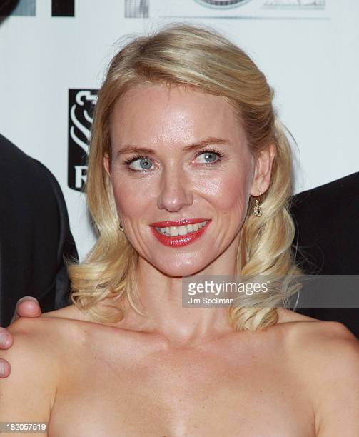 Actress Naomi Watts attends the opening night gala world premiere of 'Captain Phillips' during the 51st New York Film Festival at Alice Tully Hall at...