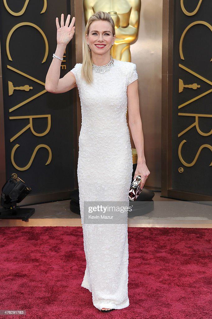 Actress <a gi-track='captionPersonalityLinkClicked' href=/galleries/search?phrase=Naomi+Watts&family=editorial&specificpeople=171723 ng-click='$event.stopPropagation()'>Naomi Watts</a> attends the Oscars held at Hollywood & Highland Center on March 2, 2014 in Hollywood, California.