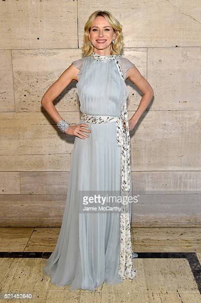 Actress Naomi Watts attends the Tiffany Co Blue Book Gala at The Cunard Building on April 15 2016 in New York City