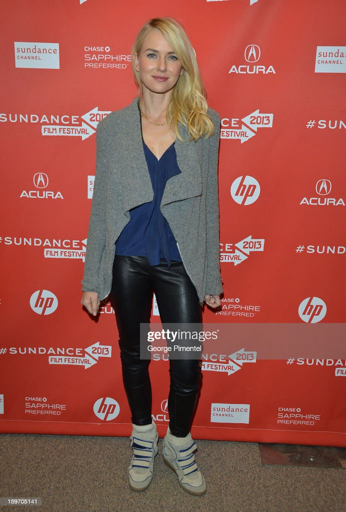 Actress Naomi Watts attends the 'Two Mothers' Premiere during the 2013 Sundance Film Festival at Eccles Center Theatre on January 18, 2013 in Park City, Utah.