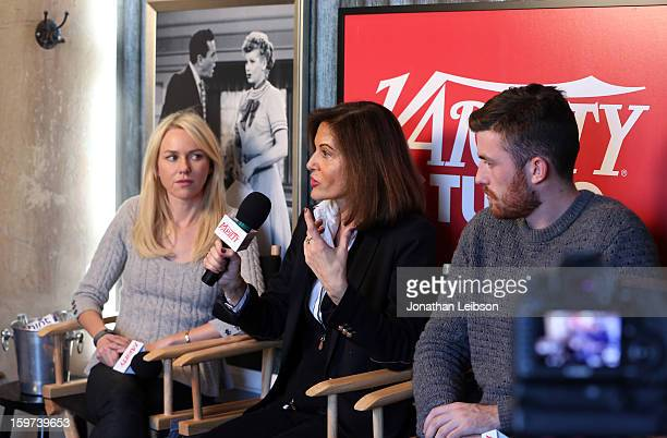 Actress Naomi Watts director Anne Fontaine and actor James Frecheville attend Day 1 of the Variety Studio at 2013 Sundance Film Festival on January...