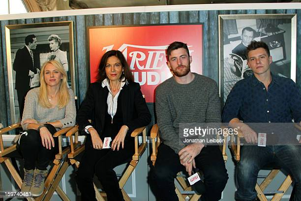 Actress Naomi Watts director Anne Fontaine and actors James Frecheville and Xavier Samuel attend Day 1 of the Variety Studio at 2013 Sundance Film...