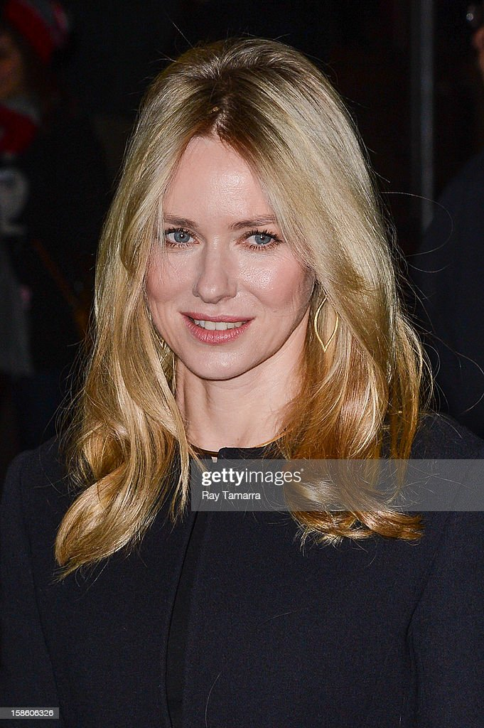 Actress <a gi-track='captionPersonalityLinkClicked' href=/galleries/search?phrase=Naomi+Watts&family=editorial&specificpeople=171723 ng-click='$event.stopPropagation()'>Naomi Watts</a> enters the 'Late Show With David Letterman' taping at the Ed Sullivan Theater on December 20, 2012 in New York City.
