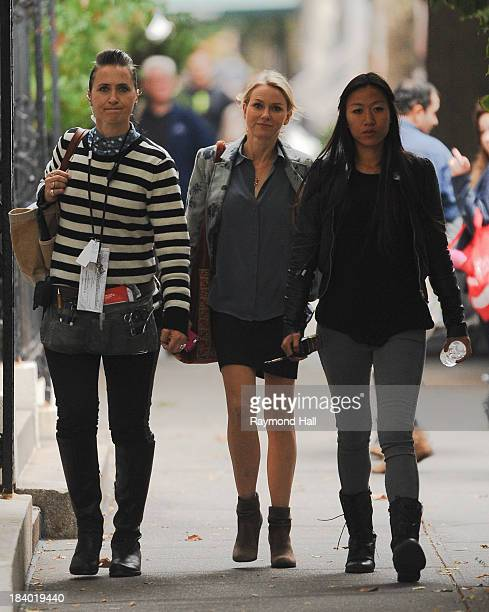 Actress Naomi Watts is seen on the set of 'Lovers on While We're Young' on October 10 2013 in New York City