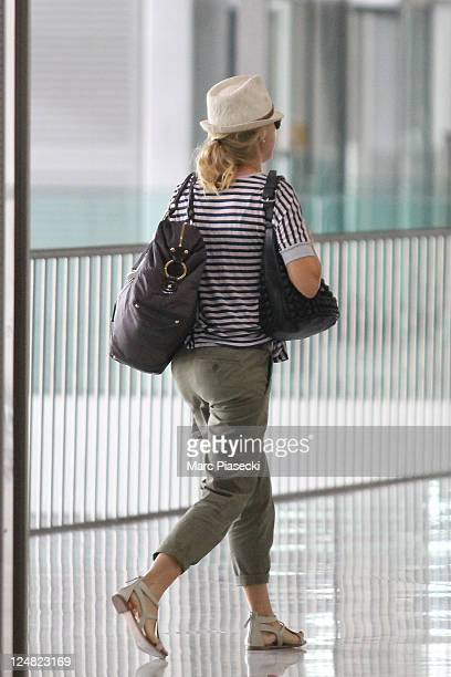 Actress Naomi Watts is sighted at Aeroport Roissy Charles de Gaulle on September 10 2011 in Paris France
