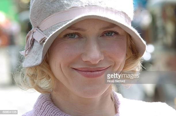 Actress Naomi Watts on the King Kong New York movie set built on industrial land at Seaview Wellington New Zealand Wednesday January 26 2005 She is...