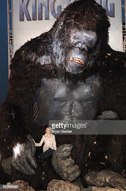 Actress Naomi Watts poses for a photo at a photocall for the Universal Pictures film premiere of 'King Kong' in Times Square December 5 2005 in New...