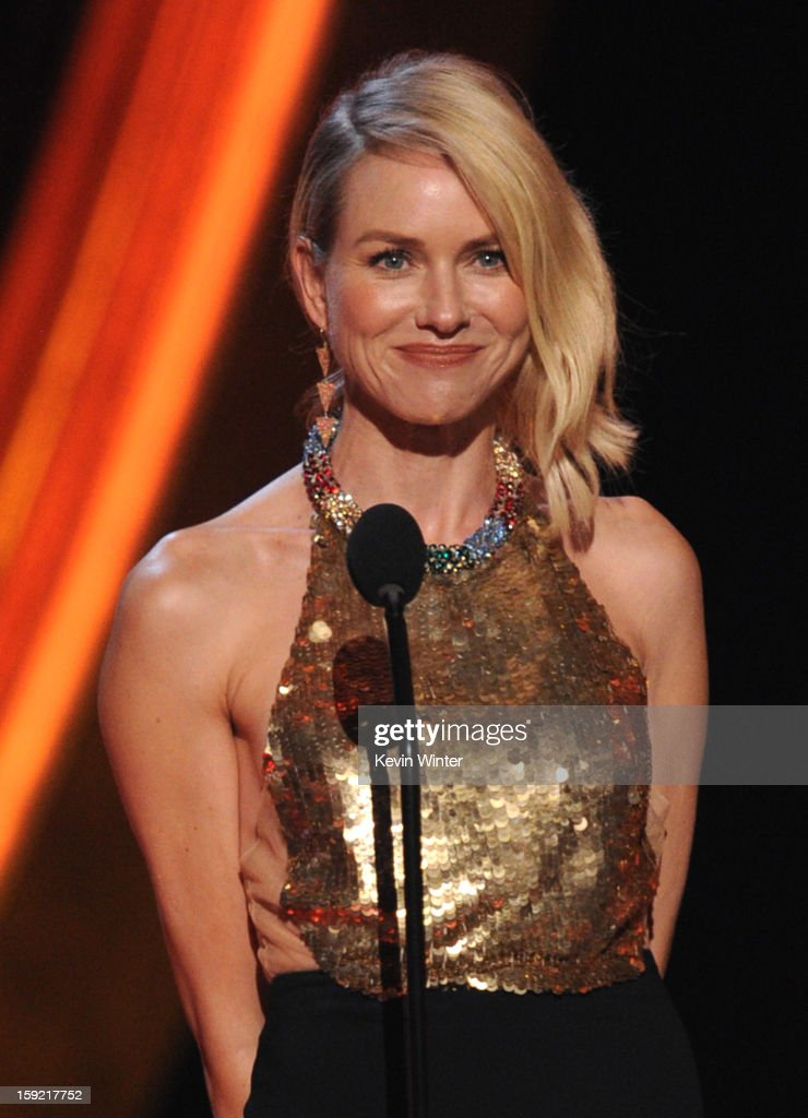 Actress Naomi Watts speaks onstage at the 39th Annual People's Choice Awards at Nokia Theatre L.A. Live on January 9, 2013 in Los Angeles, California.