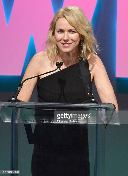 Actress Naomi Watts speaks onstage during the Women In Film 2015 Crystal Lucy Awards Presented by Max Mara BMW of North America and Tiffany Co at the...