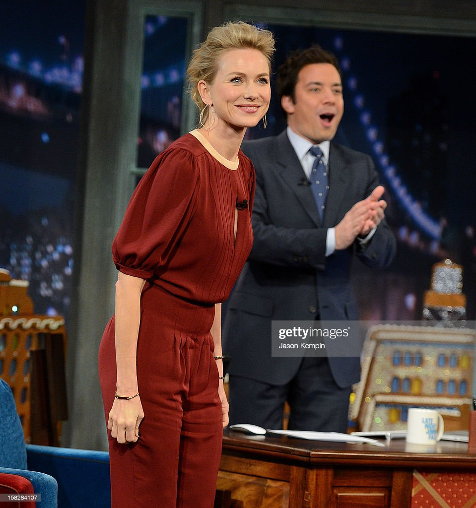 Actress Naomi Watts visits 'Late Night With Jimmy Fallon' at Rockefeller Center on December 12, 2012 in New York City.