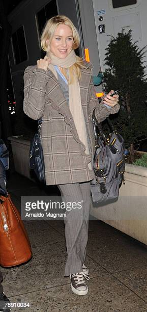 Actress Naomi Watts walks on the film set of 'The International' January 11 2008 in New York City