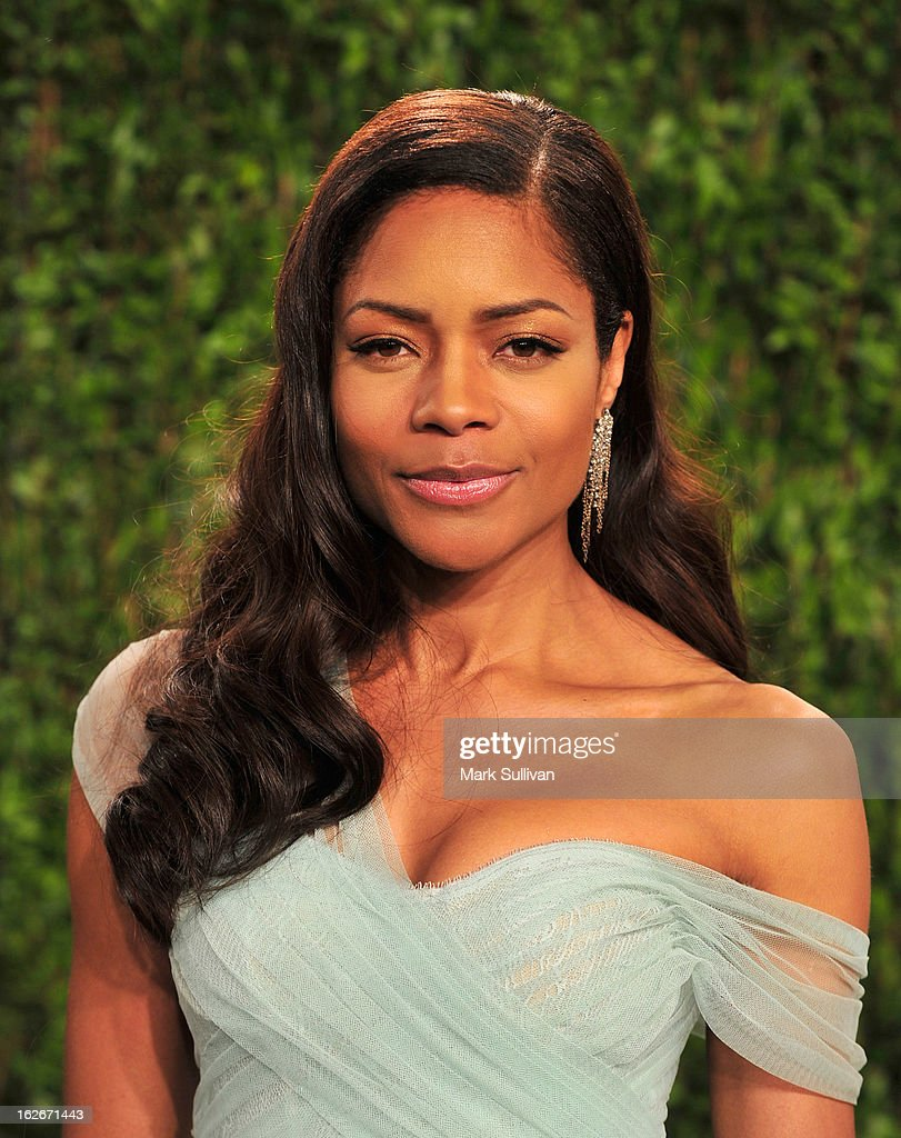 Actress Naomie Harris arrives at the 2013 Vanity Fair Oscar Party at Sunset Tower on February 24, 2013 in West Hollywood, California.