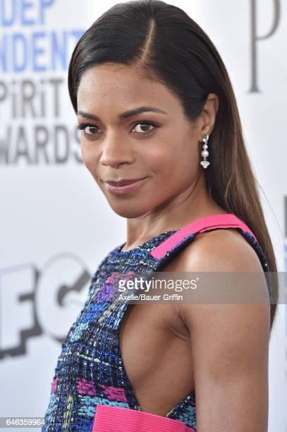 Actress Naomie Harris arrives at the 2017 Film Independent Spirit Awards on February 25 2017 in Santa Monica California