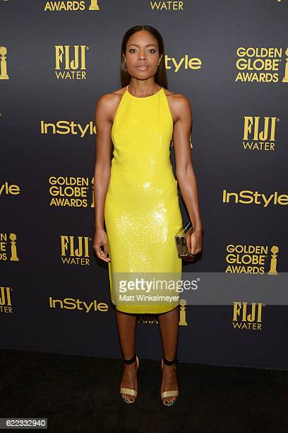 Actress Naomie Harris arrives at the Hollywood Foreign Press Association and InStyle celebrate the 2017 Golden Globe Award Season at Catch LA on...