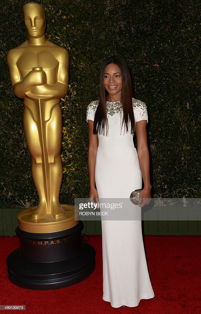 Actress Naomie Harris arrives for the 2013 Governors Awards presented by the American Academy of Motion Picture Arts and Sciences at the Grand...