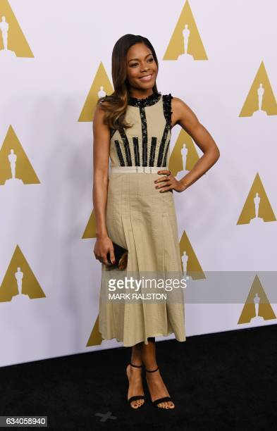 Actress Naomie Harris arrives for the 89th Annual Academy Awards Nominee Luncheon at The Beverly Hilton Hotel in Beverly Hills California on February...
