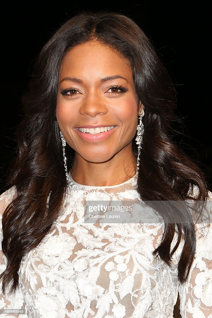 Actress Naomie Harris arrives in style during the Mercedes-Benz arrivals at the 25th Annual Palm Springs International Film Festival Awards Gala onJanuary 4, 2014 in Palm Springs, California.