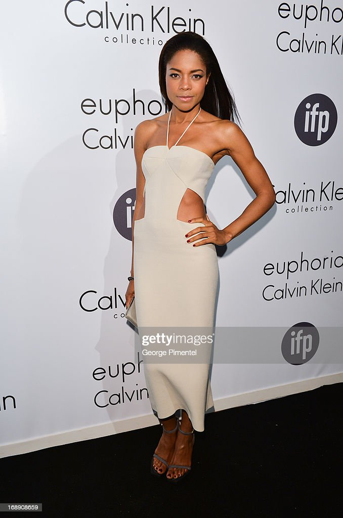 Actress <a gi-track='captionPersonalityLinkClicked' href=/galleries/search?phrase=Naomie+Harris&family=editorial&specificpeople=238918 ng-click='$event.stopPropagation()'>Naomie Harris</a> attends a party hosted by Calvin Klein and IFP to celebrate women in film at The 66th Annual Cannes Film Festival>> at L'Ecrin Plage on May 16, 2013 in Cannes, France.