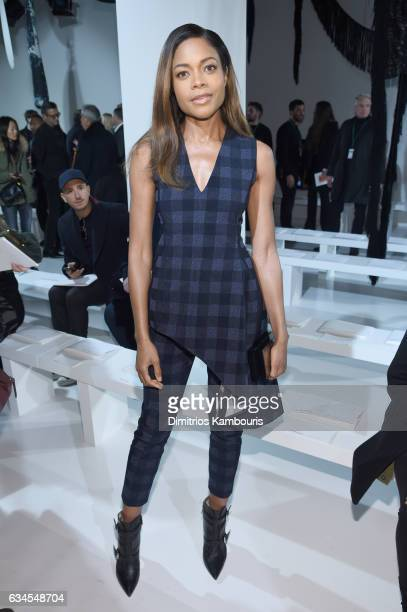 Actress Naomie Harris attends the Calvin Klein Collection Front Row during New York Fashion Week on February 10 2017 in New York City