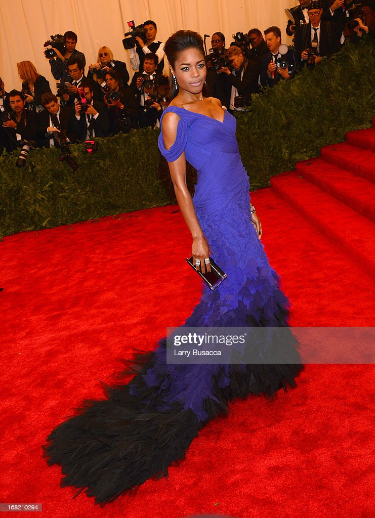 Actress Naomie Harris attends the Costume Institute Gala for the 'PUNK: Chaos to Couture' exhibition at the Metropolitan Museum of Art on May 6, 2013 in New York City.