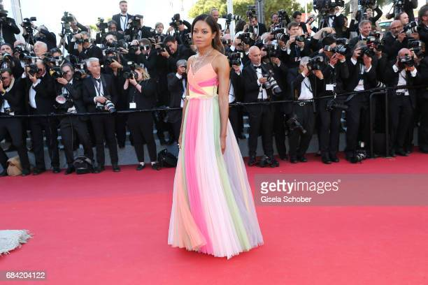 Actress Naomie Harris attends the 'Ismael's Ghosts ' screening and Opening Gala during the 70th annual Cannes Film Festival at Palais des Festivals...