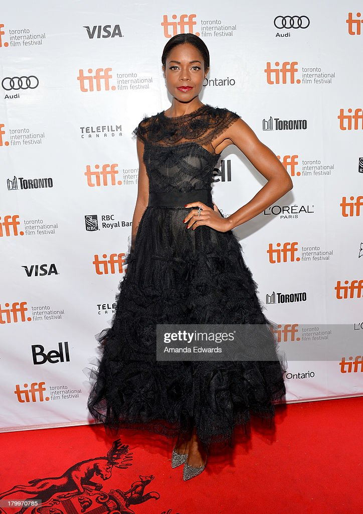 Actress <a gi-track='captionPersonalityLinkClicked' href=/galleries/search?phrase=Naomie+Harris&family=editorial&specificpeople=238918 ng-click='$event.stopPropagation()'>Naomie Harris</a> attends the 'Mandela: Long Walk To Freedom' premiere during the 2013 Toronto International Film Festival at Roy Thomson Hall on September 7, 2013 in Toronto, Canada.