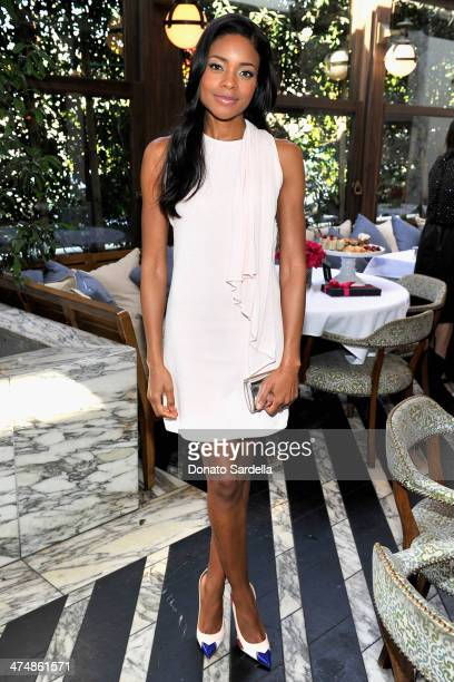 Actress Naomie Harris attends the Maybelline New York and The Daily Front Row Fashion Hollywood Luncheon at Cecconi's Restaurant on February 25 2014...