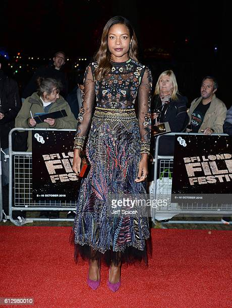 Actress Naomie Harris attends the 'Moonlight' Official Competition screening during the 60th BFI London Film Festival at Embankment Garden Cinema on...