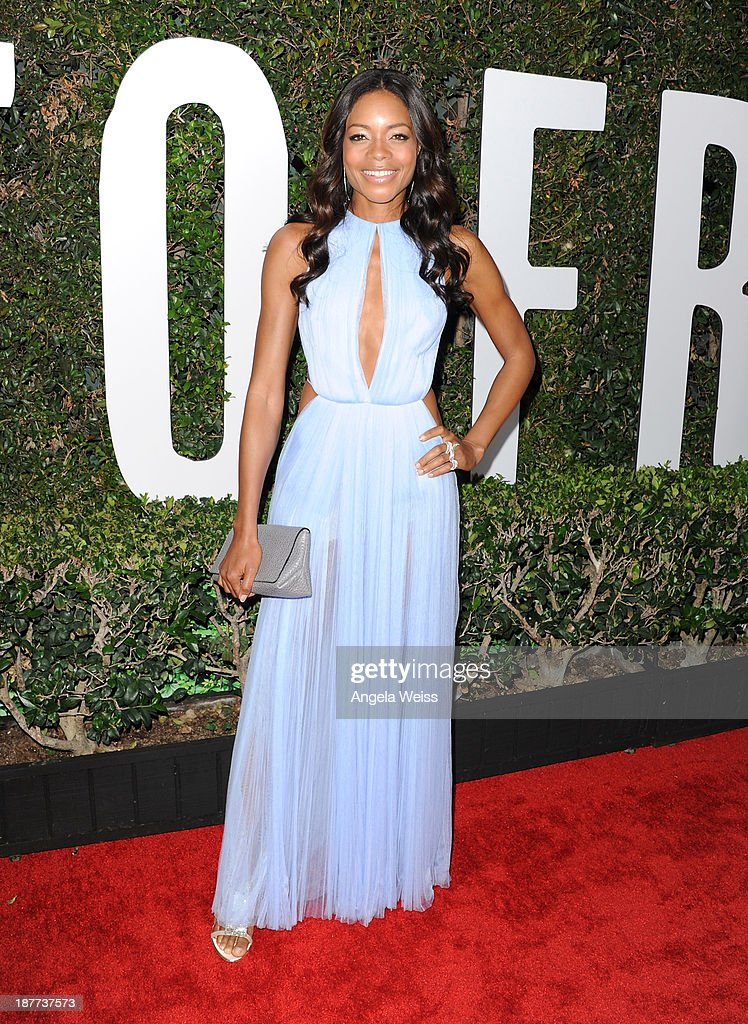 Actress Naomie Harris attends the premiere of The Weinstein Company's 'Mandela: Long Walk To Freedom' at ArcLight Cinemas Cinerama Dome on November 11, 2013 in Hollywood, California.