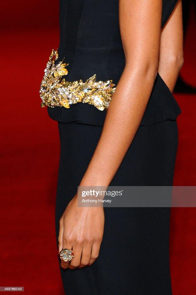 Actress Naomie Harris (detail) attends the Royal film performance of 'Mandela: Long Walk to Freedom' on December 5, 2013 in London, United Kingdom.