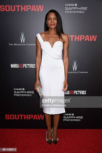 Actress Naomie Harris attends the 'Southpaw' New York Premiere at AMC Loews Lincoln Square on July 20 2015 in New York City