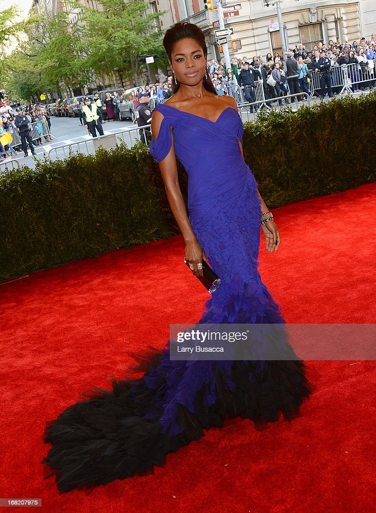 Actress Naomie Harrisattends the Costume Institute Gala for the 'PUNK: Chaos to Couture' exhibition at the Metropolitan Museum of Art on May 6, 2013 in New York City.