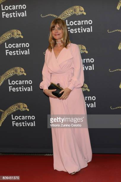Actress Nastassja Kinski attends a red carpet during the 70th Locarno Film Festival on August 4 2017 in Locarno Switzerland