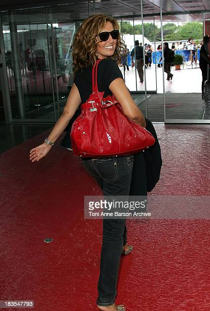 Actress Natacha Amal leaves after attending a photocall promoting the television series 'Femmes de Loi' on the fifth day of the 2008 Monte Carlo...