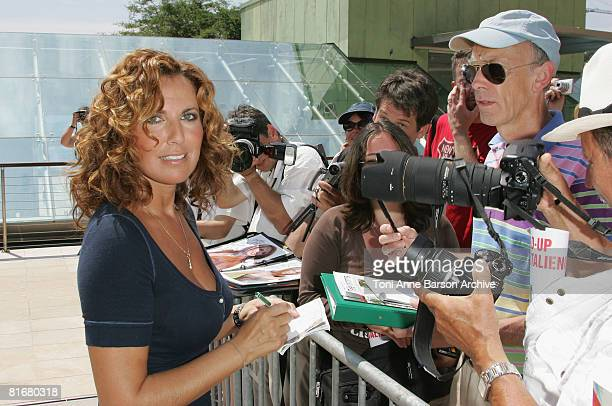 Actress Natacha Amal meets fans on the fifth day of the 2008 Monte Carlo Television Festival held at Grimaldi Forum on June 11 2008 in Monte Carlo...