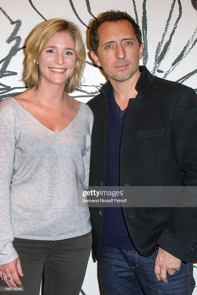 Actress Natacha Regnier and actor <a gi-track='captionPersonalityLinkClicked' href=/galleries/search?phrase=Gad+Elmaleh&family=editorial&specificpeople=586672 ng-click='$event.stopPropagation()'>Gad Elmaleh</a> attend 'Le Capital' premiere at Gaumont Parnasse on November 12, 2012 in Paris, France.