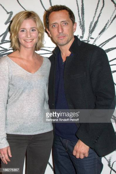 Actress Natacha Regnier and actor Gad Elmaleh attend 'Le Capital' premiere at Gaumont Parnasse on November 12 2012 in Paris France