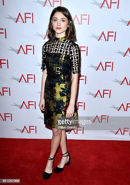 Actress Natalia Dyer attends the 17th annual AFI Awards at Four Seasons Los Angeles at Beverly Hills on January 6 2017 in Los Angeles California