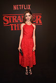 Actress Natalia Dyer attends the Premiere of Netflix's 'Stranger Things' at Mack Sennett Studios on July 11 2016 in Los Angeles California