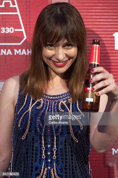 Actress Natalia Natalia Verbeke attends 'Manzana Mahou 330' inauguration on June 22 2016 in Madrid Spain