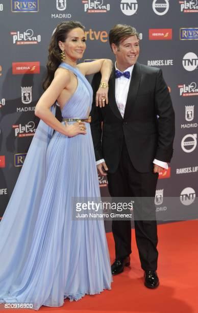 Actress Natalia Oreiro and Carlos Latre attend the 'Platino Awards 2017' photocall at La Caja Magica on July 22 2017 in Madrid Spain