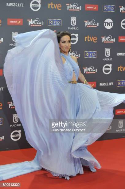 Actress Natalia Oreiro attends the 'Platino Awards 2017' photocall at La Caja Magica on July 22 2017 in Madrid Spain