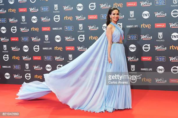 Actress Natalia Oreiro attends the Platino Awards 2017 photocall at the La Caja Magica on July 22 2017 in Madrid Spain
